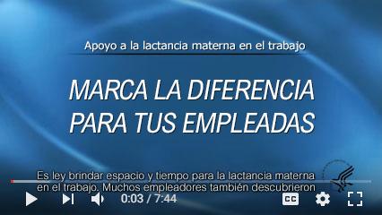 """Vista de miniatura del video """"Apoyo a las madres que amamantan en el trabajo: marque la diferencia para su empleada"""""""