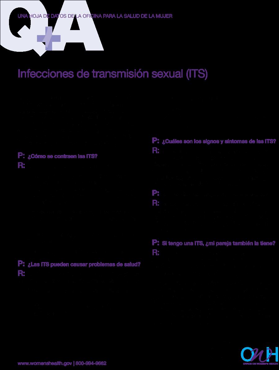 Infecciones de transmisión sexual, hoja de datos
