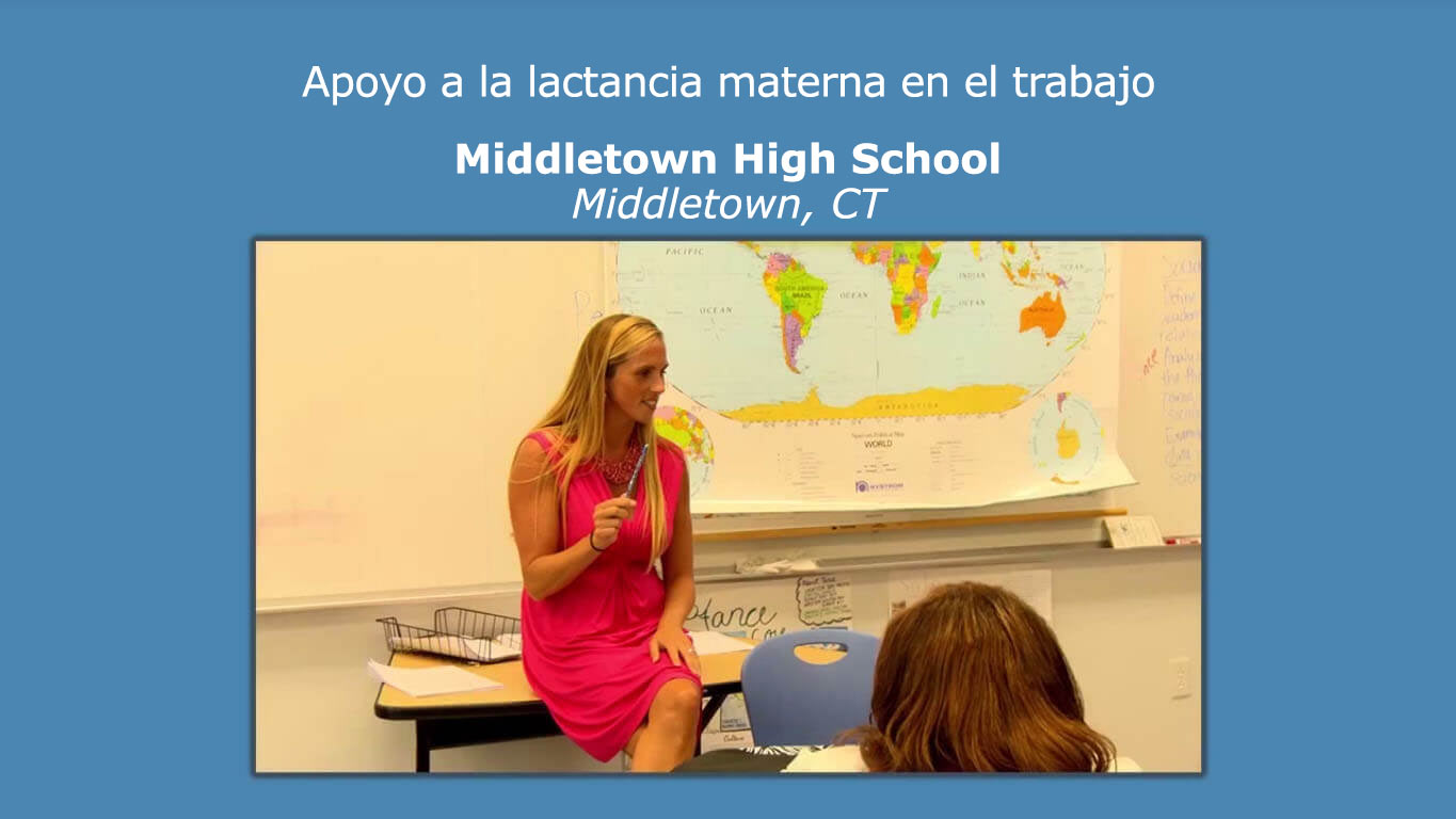 Apoyo a la lactancia materna en el trabajo. Middletown High School, Middletown, Connecticut.